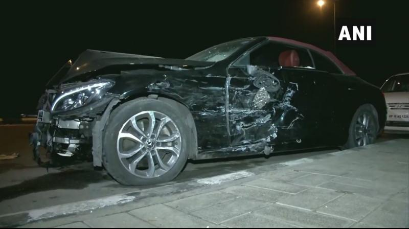 'The impact of the accident was such that the air bags of the Mercedes came out,' an officer said. (Photo: ANI)