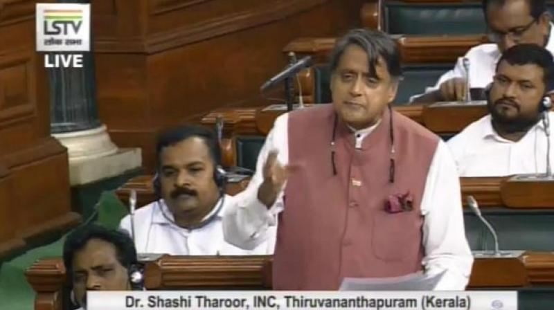 Calling the bill 'piecemeal' and 'cosmetic', Tharoor also attacked the government on the recent arrests of lawyers Indira Jaisingh and Anand Grover. (Photo: ANI)
