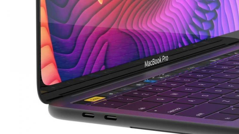 The MacBook Pro will come with slimmer bezels all around and will be able to fit in the substantially large frame of the 15.4-inch laptop.  ( MacBook Pro concept render by Viktor Kadar. Credit: Viktor Kadar)
