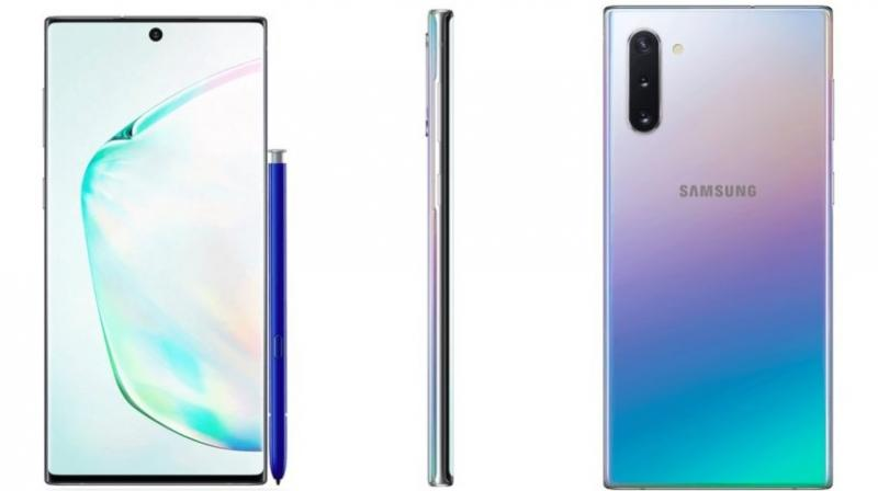 The Note 10 line of products have ditched the headphone jack and the rear cameras have been moved to the corners.
