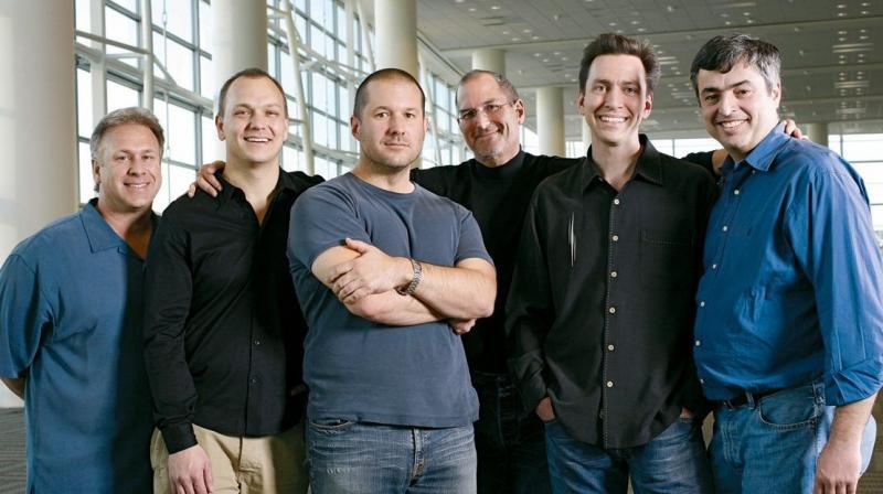 Apple's iconic 2007 iPhone team. (Left to right: Phil Schiller, Tony Fadell, Jony Ive, Steve Jobs, Scott Forstall and Eddie Cue)
