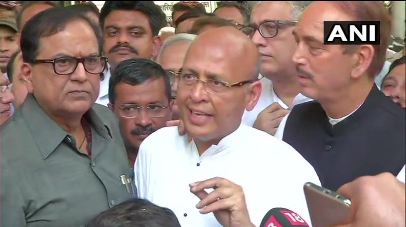 'If the subset is found poisonous, then the whole sample is discarded,' said Abhishek Manu Singhvi of Congress. (Photo: ANI | Twitter)