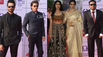 Bollywood stars turned out in good numbers at the inauguration event of the International Film Festival of India (IFFI) held in Panaji, Goa on Monday. (Photo: Viral Bhayani/@IFFIGoa on Twitter)