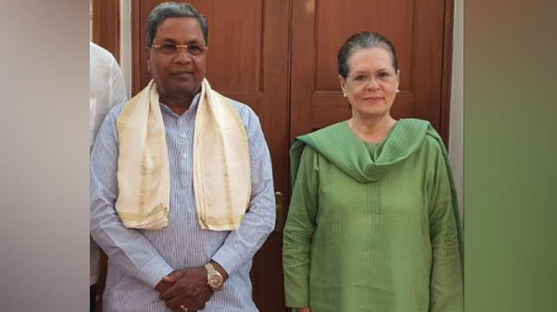 Congress on October 9 appointed Siddaramaiah the LoP in the Legislative Assembly in the state while SR Patil was appointed the LoP in the Legislative Council. (Photo: ANI)