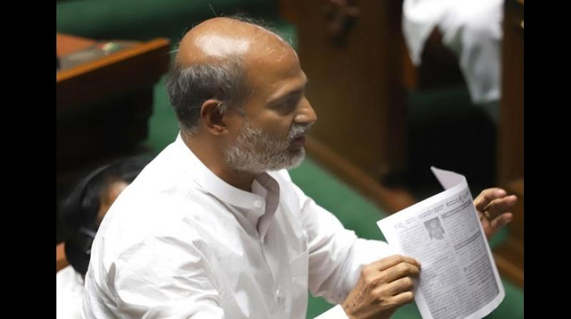 "The party MLA was in controversies on many occasions, most recently for cautioning Chief Minister BS Yediyurappa against ""snakes and scorpions"" active in the state politics. (Photo: ANI)"