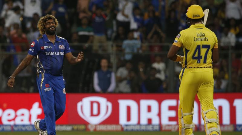 Malinga took 3/34 for Mumbai Indians in an Indian Premier League game against Chennai Super Kings that ended close to midnight on Wednesday. (Photo: AP)