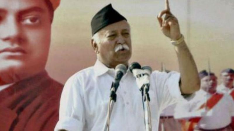 RSS sarsanghachalak Dr Mohan Bhagwat. (Photo: File)