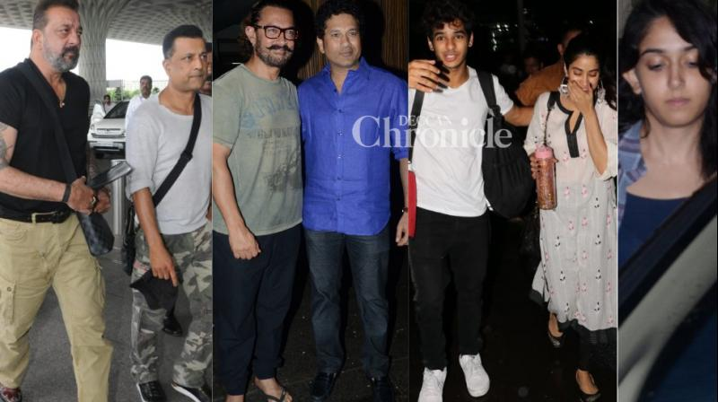 Bollywood stars went out and about in Mumbai city on Monday and the paparazzi didn't miss the opportunity to click them. (Photos: Viral Bhayani)