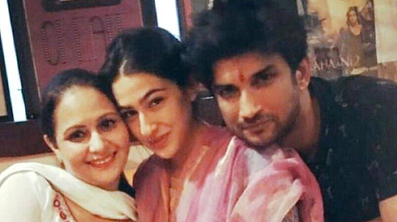 Sara Ali Khan and Sushant Singh Rajput.