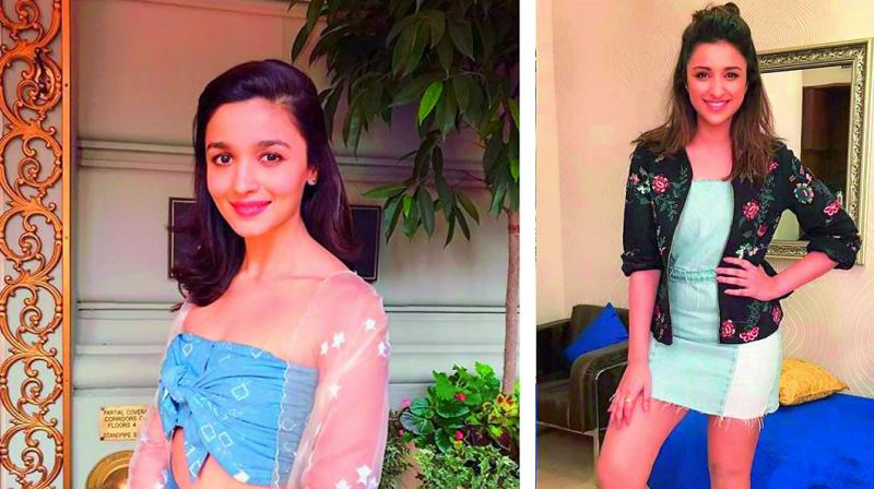 Alia Bhatt in a transparent jacket; Pari looks chic in a bomber jacket
