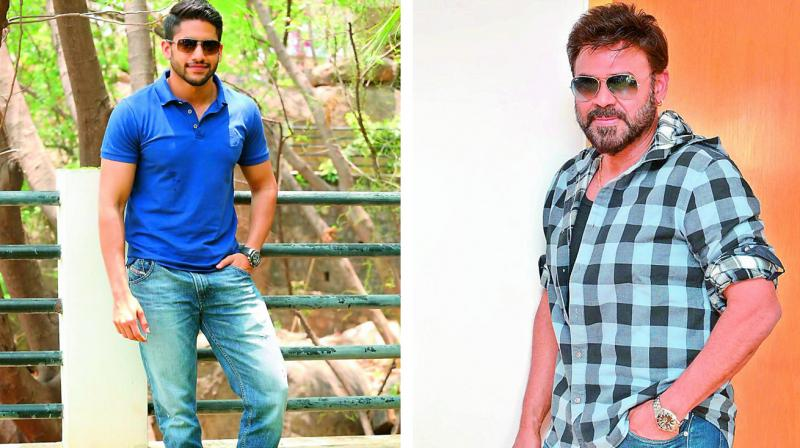 Naga Chaitanya and Venkatesh