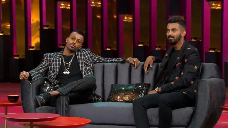 Rahul and Pandya were suspended for their loose talk on women on a popular TV show but their suspension was eventually revoked pending an inquiry to be conducted by a Supreme Court-appointed Ombudsman. (Photo: Screengrab)