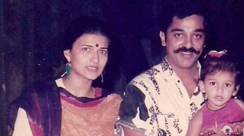 Throwback: This picture of Shruti Haasan with Kamal and Sarika is  heart-melting!