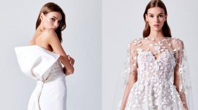 Oscar de la Renta's Bridal Spring 2019 collection is modern and effortlessly elegant. (Photo: Oscar de la Renta)