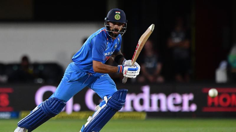 The 'run-machine' Kohli is known to have created and broken numerous batting records, and he did so once more when he broke into the top-10 ODI run-getters, surpassing West Indies great Brian Lara. Kohli, with 10430 ODI runs, went past Lara's record of 10405 runs. (Photo: AFP)