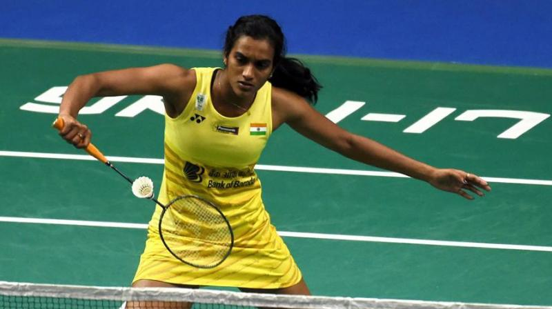 Sindhu, seeded second, defeated Tunjung 23-21, 21-7 in 37 minutes to make the last-eight stage of her season-opener.(Photo: AFP)