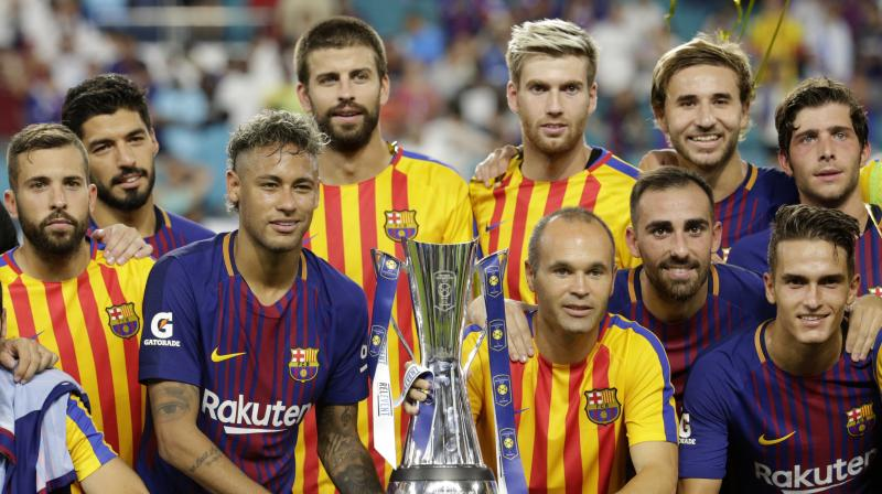 Gerard Pique scored the winning goal of the match. (Photo: AP)