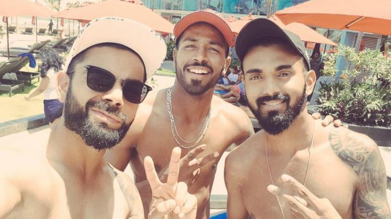 The Indians were completely dominant in the game, finishing off the hosts by the end of Day 4, giving them an extra day to cool down. (Photo: Twitter/ Hardik Pandya)