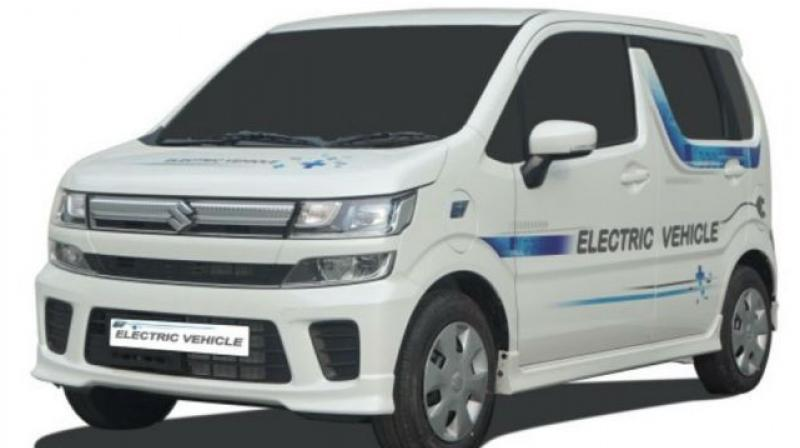 Maruti Suzuki has showcased a prototype electric vehicle (EV) at the ongoing MOVE Global Mobility Summit in New Delhi.