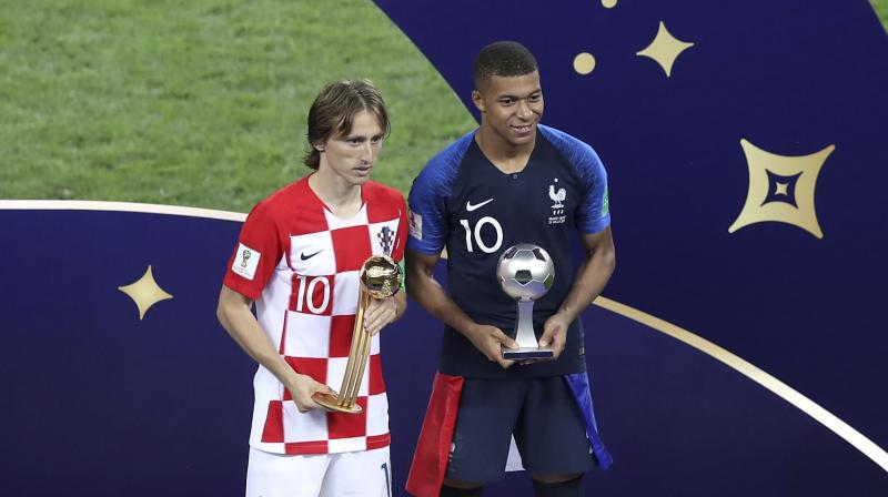 Kylian Mbappe won the young player of the tournament award after scoring his fourth goal of the competition in the final, which France won 4-2.(Photo: AP)