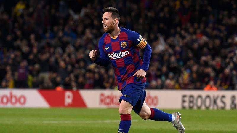 It was his 34th hat-trick in La Liga and with this, Lionel Messi equalled the record of Juventus' Cristiano Ronaldo. (Photo: AFP)