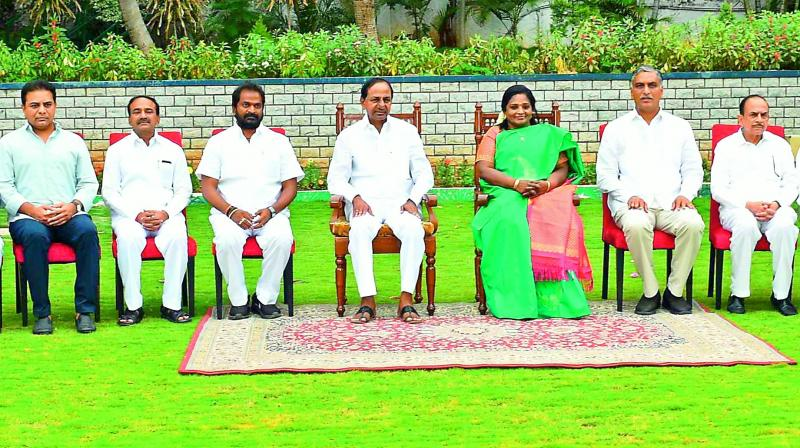 Telangana Cabinet: KCR hits sixer, Harish Rao gets finance