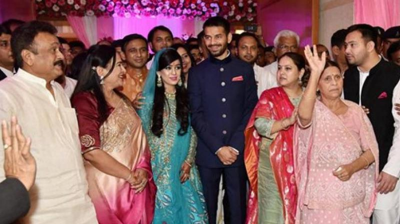 Lalu Prasad Yadav's son and Aishwarya Rai get engaged in Patna