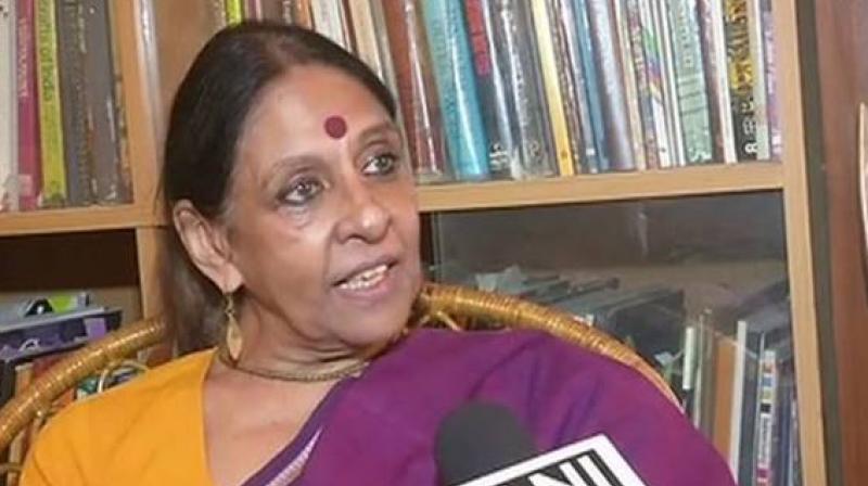 Jaya Jaitly, Bihar Chief Minister Nitish Kumar's one-time colleague in the Samata Party. (Photo: ANI)