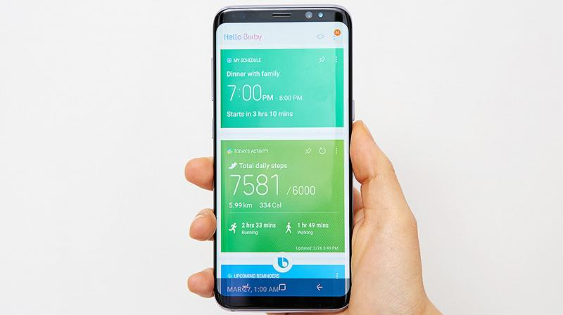 The report claims that the earphone will bring Bixby to the user even when the phone is not near the user. (Photo: Bixby on Samsung Galaxy S8