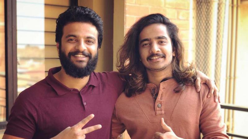 Neeraj with brother Navaneeth Madhav
