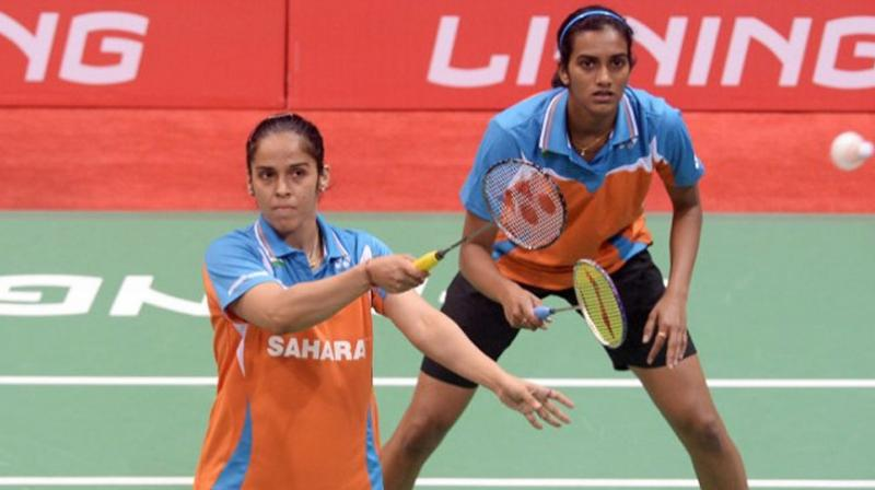 Saina Nehwal and PV Sindhu had crashed out of the All England Championship after losing in the quarterfinals and the duo would be eyeing better results this week. (Photo: AFP)