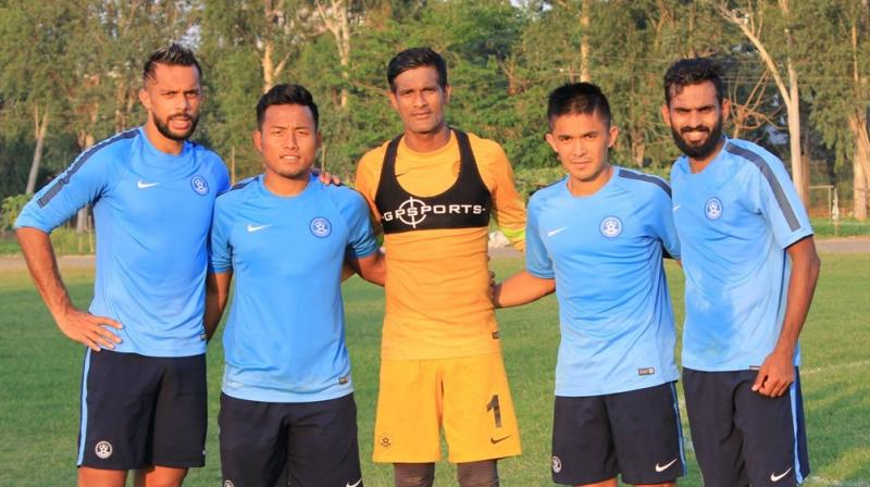 Jaje Lalpekhlua believes that the current Indian football team is an integrated one, and the players fight for each other. (Photo: AIFF/ Twitter)