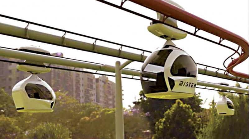 The BBMP is now thinking of adding the hi-tech Pod Taxi to the mix which is expected to complement the Metro. (Photo: DC)