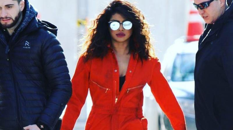 Priyanka Chopra on the sets of 'Quantico 3'.