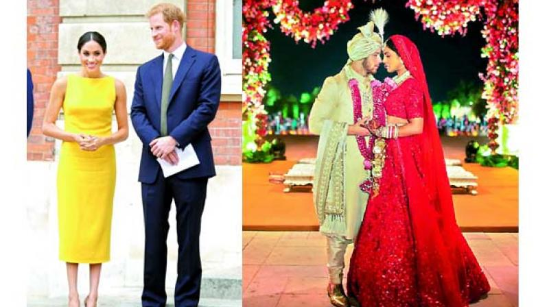 """Just before her wedding, Meghan Markle humiliated by her """"best friend"""", Ninaki Priddy; (right) The Cut, wrote a very caustic article about Priyanka and Nick's wedding. They called Priyanka a """"modern-day scam artist"""""""