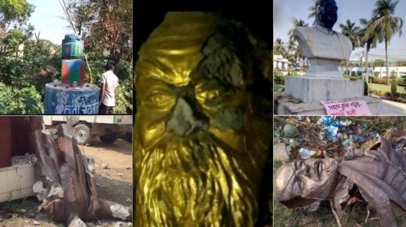 Statue politics: Vandals target statutes of Lenin, Periyar, Mookerjee and Ambedkar
