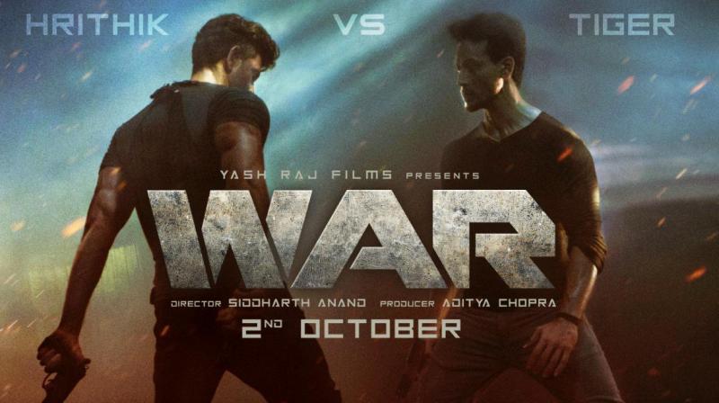 Hrithik Roshan and Tiger Shroff starrer WAR poster.