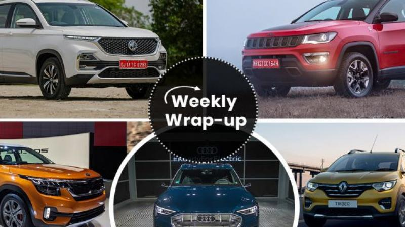 German carmaker Audi has revealed the e-tron for the Indian market. The e-tron is an all-electric SUV that was revealed globally in November last year and is Audi's first truly all-electric product for the global market. Take a look at the most important car news from the week gone by. (Source: CarDekho.com)
