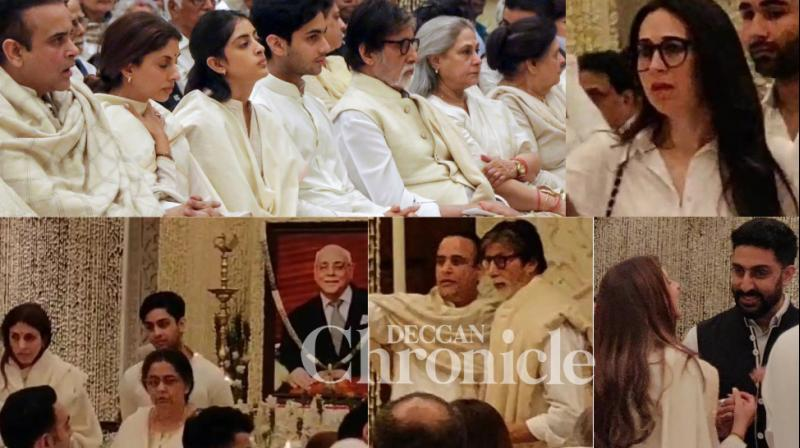 A prayer meet for businessman Rajan Nanda, who passed away recently, was held in New Delhi on Tuesday. (Photos: Viral Bhayani)