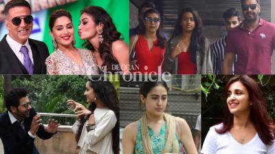 Bollywood celebrities made it to city diaries for paparazzi as they stepped out in Mumbai on Tuesday. (Photos: Viral Bhayani)