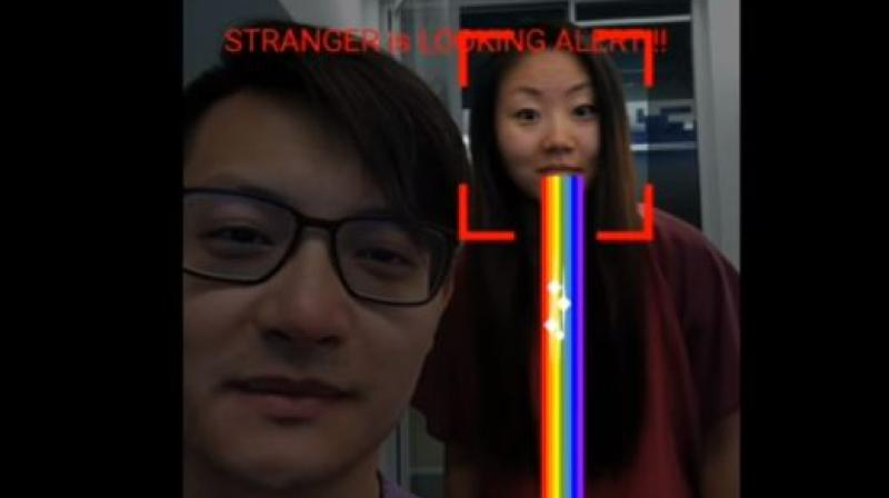 The engineers have developed a simple tool that applies the software to a smartphone's front facing camera.