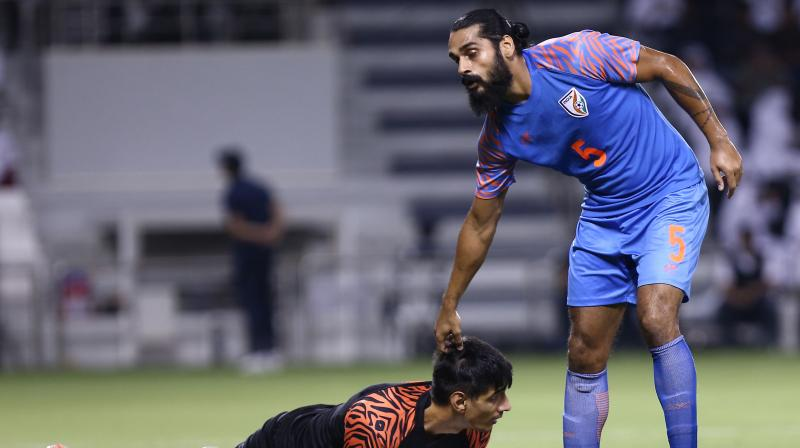 """Jhingan said India will have to win against Bangladesh and Afghanistan before thinking of """"surprising"""" Oman in the away match next year. (Photo: AFP)"""