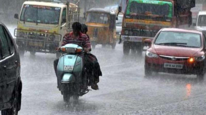Hyderabad is expected to have generally cloudy skies with a few spells of rain or thundershowers at the beginning of the week, while rain or thundershowers would occur towards evening or night mid-week.   (Representational image)