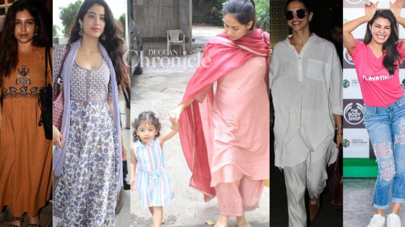 B-Town celebrities made it a busy day for the paparazzi who stepped out to capture them in Mumbai on Wednesday. (Photos: Viral Bhayani)