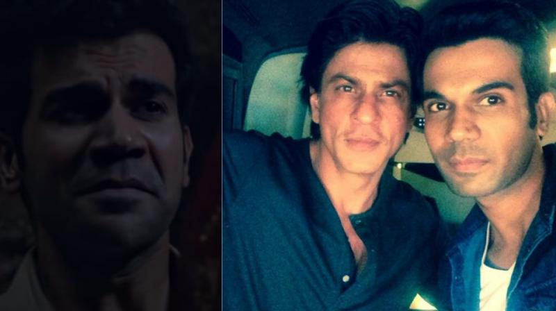 Rajkummar Rao is still from 'Stree' where he mimics Shah Rukh Khan.