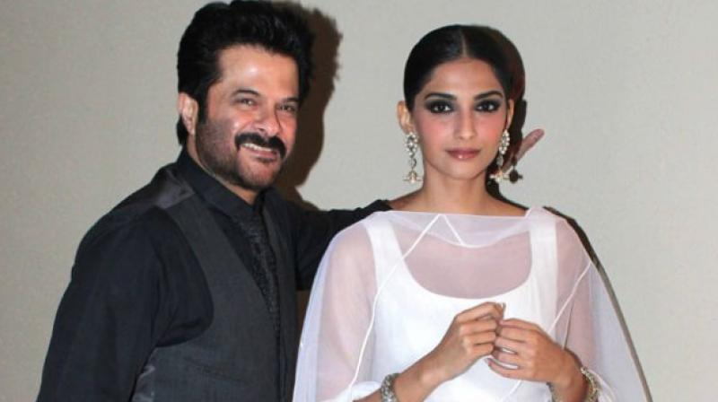 Anil Kapoor with daughter Sonam.