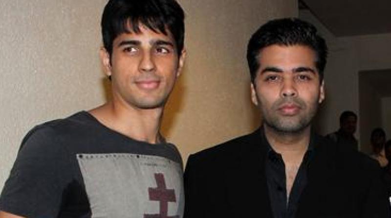 Sidharth Malhotra and Karan Johar.