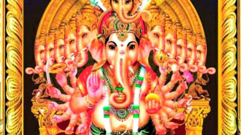 Likeness of the Khairatabad Ganesh idol released on Tuesday