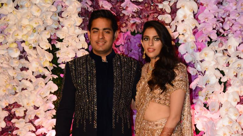 Akash Ambani and Shloka Mehta. (Photo: Viral Bhayani)
