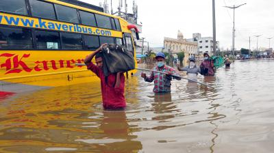 Hyderabad has witnessed its worst October rainfall in the last 100 years. (P Surendra)